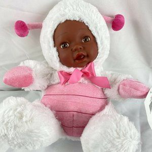 30cm Pink & White Soft Baby Doll